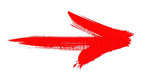 red grunge arrow